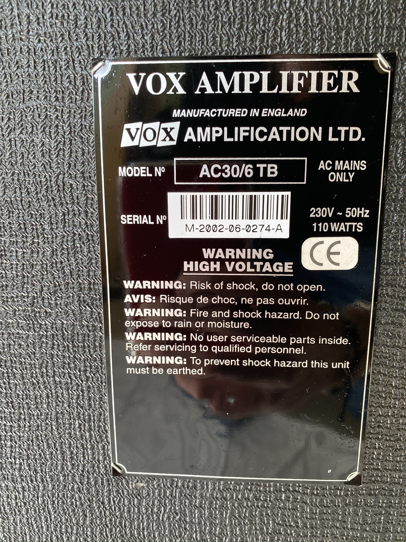 Vox Ac30 6 Tb Made In England Korg Era Amps
